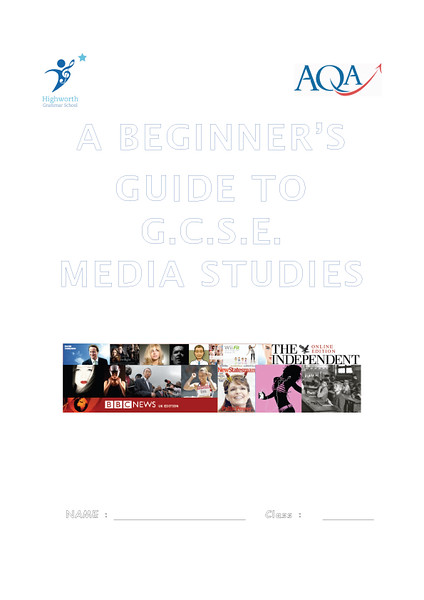 Welcome to Media Studies - HGS cover