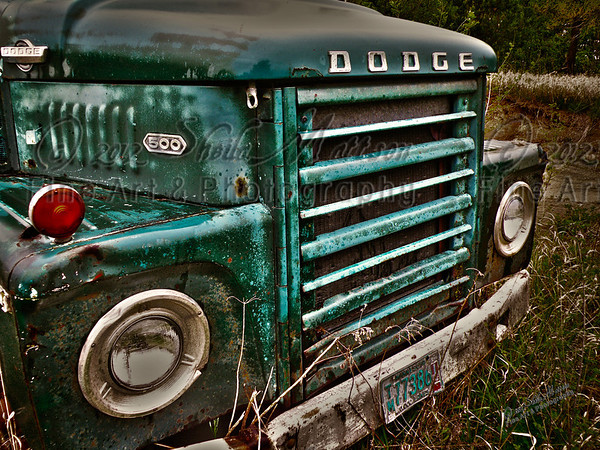 """""""Old Dilapidated Dodge""""<br /> <br /> *  Winner Photograph of the Year 2012/13 - MVPC Print<br /> *  1st Place - November 2012 - MVPC Nov Topic"""