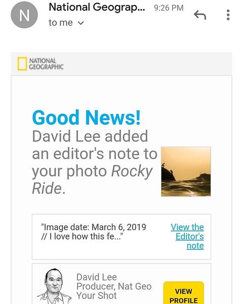 Editor's Note - Rocky Ride