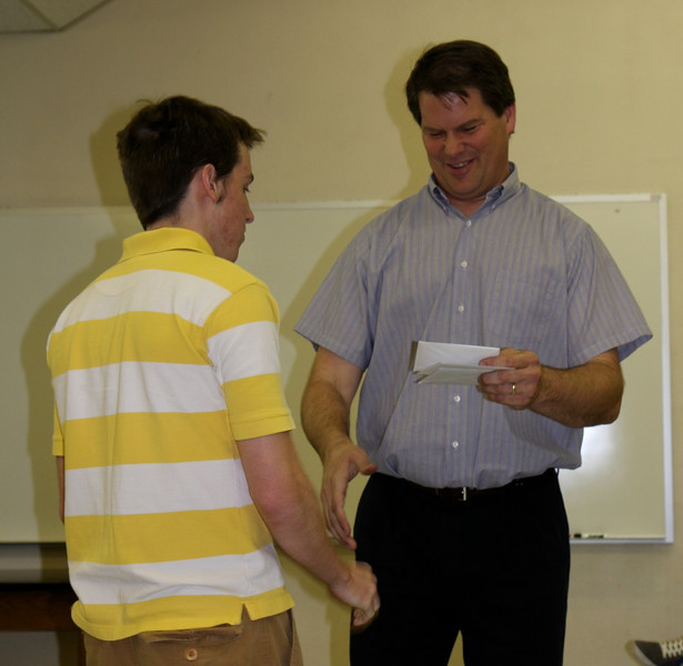 Kyle Wilson receives the Outstanding General College Physics Award.