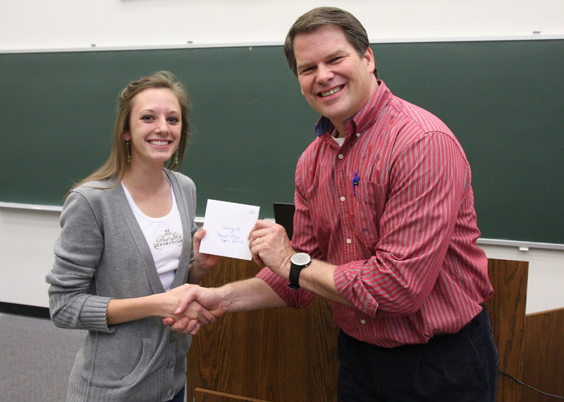 Hooray for Chesney Burgweger for winning the General College Physics Award