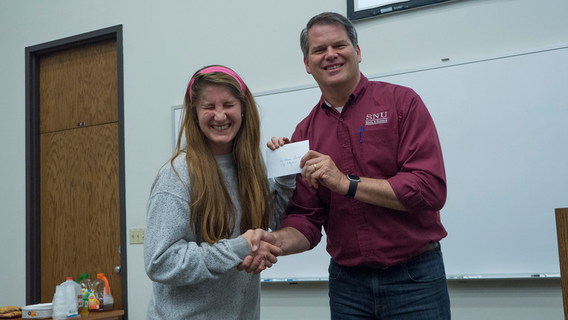 And the other Physics award is for McKenna Qualls!
