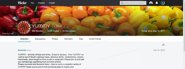 Cover photo for Yummy group on Flickr