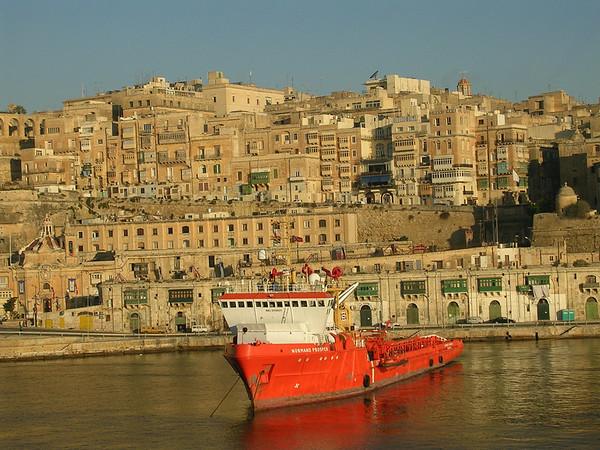 Cruising Into the Port of Valletta, Malta