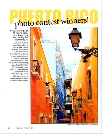 Grand Prize Winner. Porthole Cruise Magazine
