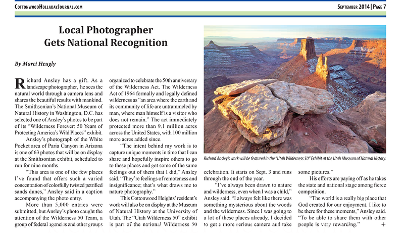 Local Photographer Gets National Recognition