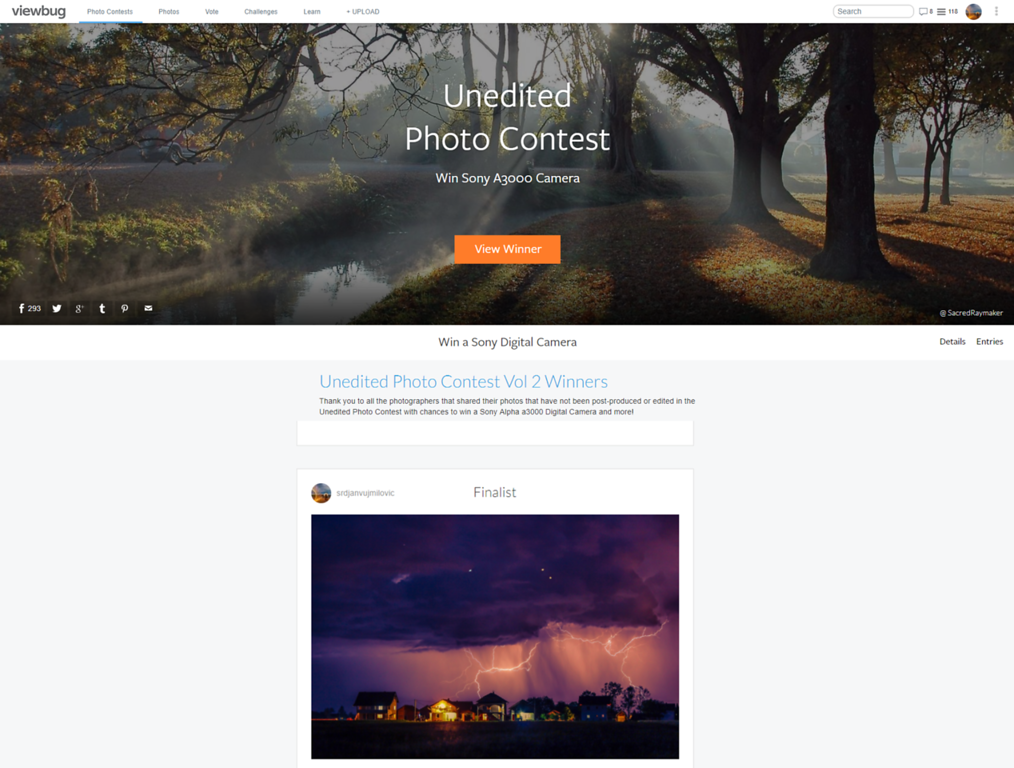 Unedited Photo Contest - Finalist