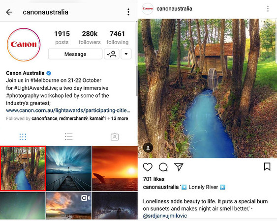 Canon Australia - Instagram Repost