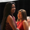 Lynn, Ma. 5-31-17. Victoria Say heads back to her seat after  receiving the Carol Ruggiereo Memorial Scholarship  at the Lynn English High School Awards Night.
