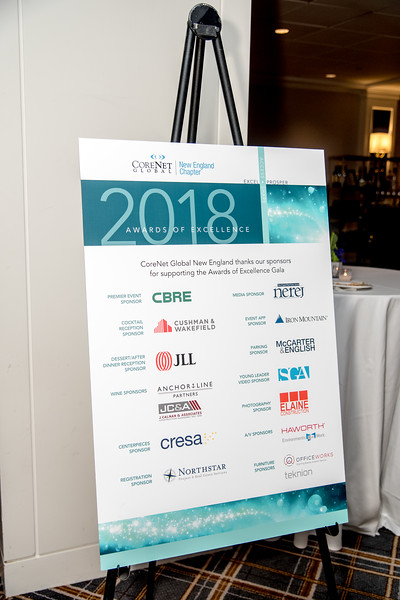Corenet New England 2018 Awards Ceremony at the Boston Park Plaza with Boston President Suzanne Cooper of CIEE presenting.