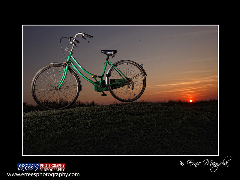 Cagayan Sunset with the  Old Bike