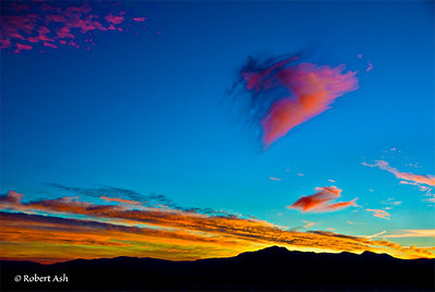 """Lake Tahoe Fire Cloud""  Featured in Future Light Digital feature story about me. Also featured as illustration in author Lynn Tilson's book ""Caterpillars Never Die""."