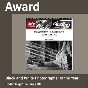 Black and White Photographer of the Year at Dodho Magazine (2018)
