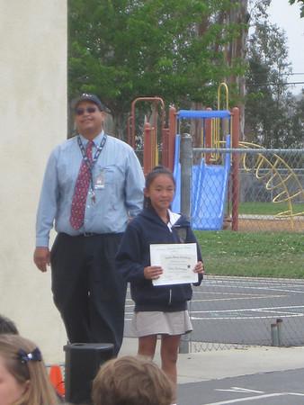 Claire's 5th Grade Awards 2013