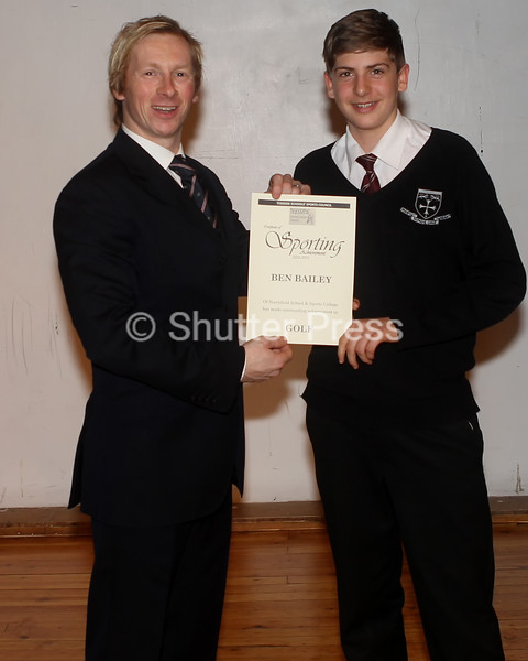 Ben Bailey - Teesside Schools Sports Council Awards