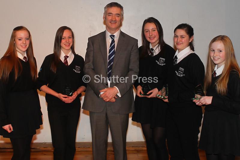 Craig Walker & Northfield School Girls Table Tennis team - Teesside Schools Sports Council Awards
