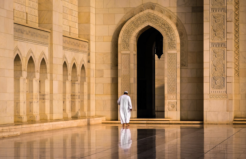 Entering the Grand Mosque