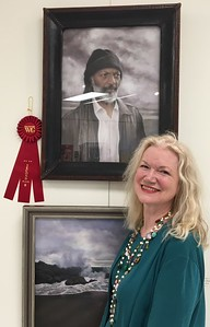 PORTRAIT OF ANTONIO winning a second prize at the Westlake Village Art Guild's  2019 open juried show at the Thousand Oaks Community Art Gallery