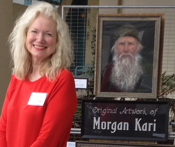 Morgan at the Rejoice in Art Exhibition at the Rivera UMC in Redondo Beach , California