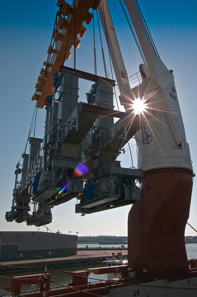 Panalpina World Transport - Project Photographer - Off Loading of Steel Mfg Equipment