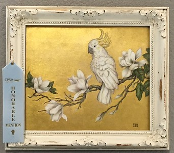 MAGGIE AMONG THE MAGNOLIAS got a Honorable Mention at the 2017 Colored Pencil Society of America , chapter 214 annual show