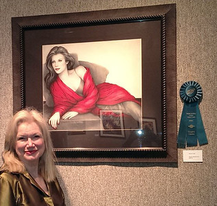 LADY IN RED received the people's choice award at the Ojai Art Center in Ojai, California