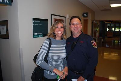 Dan Wade posing with Cindy Kannan, wife of Dev Kannan.