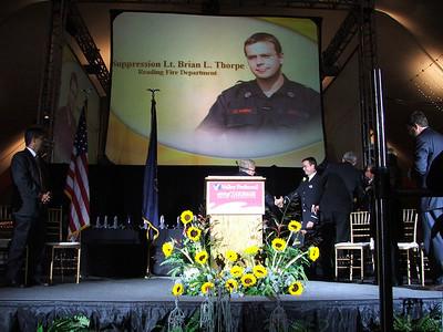 Lt. Brian Thorpe award presentation.