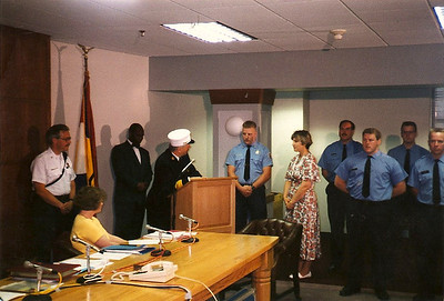 Class of 94 Sworn-In, Ray Werts Commendation