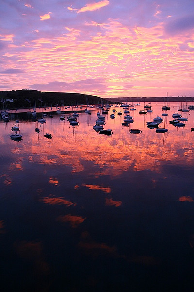 Cornish sunrise over Falmouth harbour