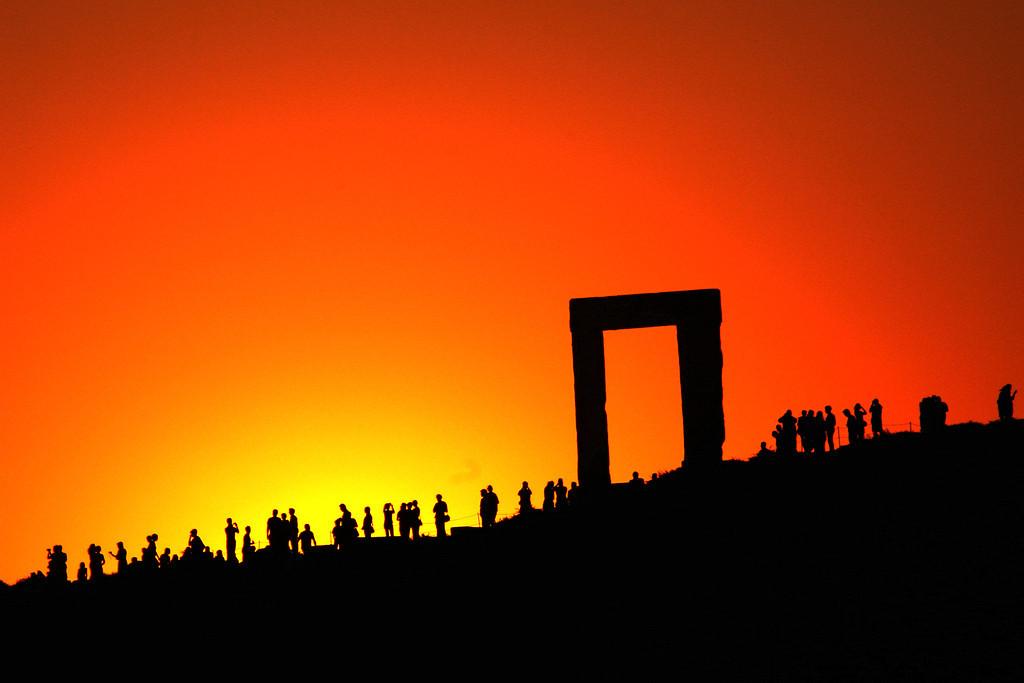 Sunset at the Apollo Temple, Naxos, Greece