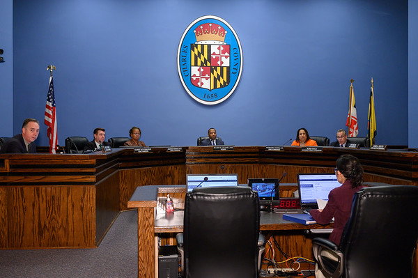 The Charles County Commissioners meet with the Health Department, Board of Education and Sheriff Troy Berry discuss new regulations being implemented in light of COVID-19.