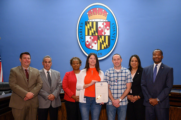 The Commissioners recognize Charles County residents for their hard work through out the community.