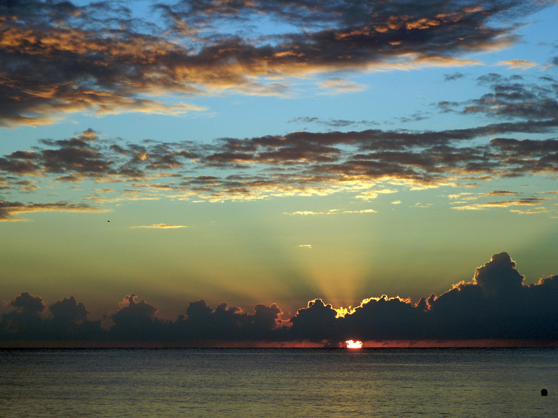 Sunset from Seven Mile Beach | Grand Cayman Island
