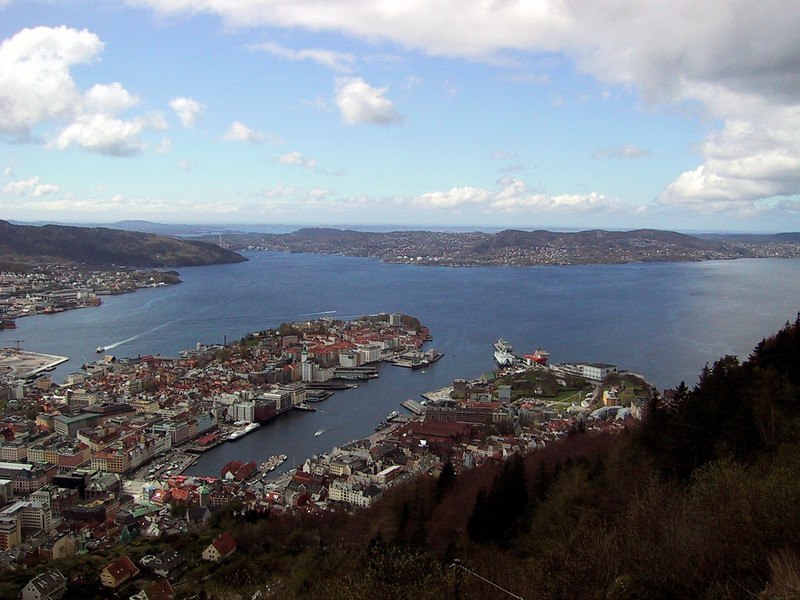 Bergen from funicular railway