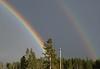 Double rainbow, Yellowstone
