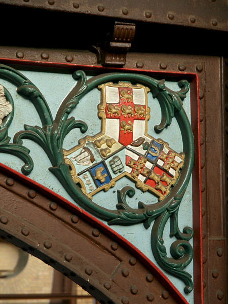 2010s 2011-04-09 Architectural emblem in York railway station York, UK