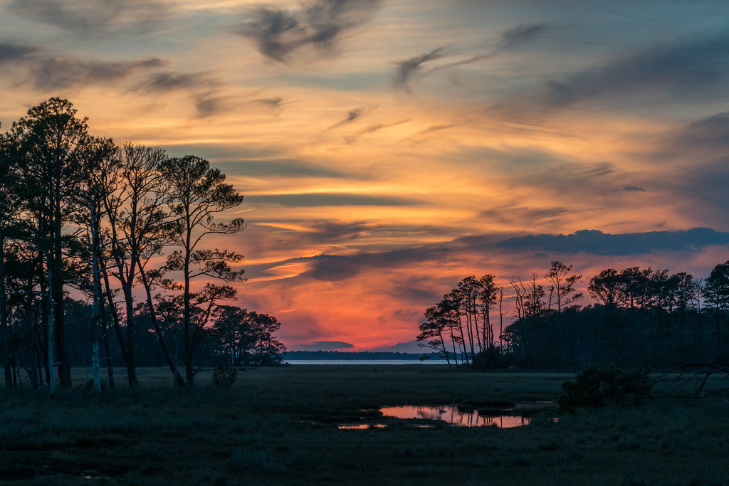 Glorious Sunset, November in Chincoteague