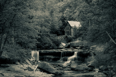 Glade Creek Grist Mill Duotone