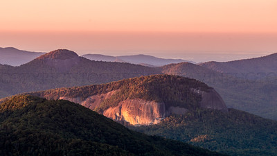 Sunrise on Looking Glass Rock