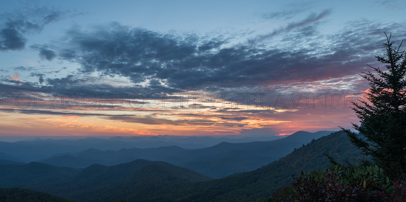 Sunset in the Blue Ridge Mountains