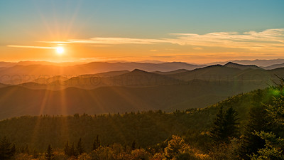 Sunset, Brevard Blue Ridge Parkway