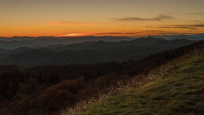 Sunrise Blue Ridge Mountains