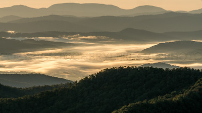 Mist at Sunrise Blue Ridge Mountains