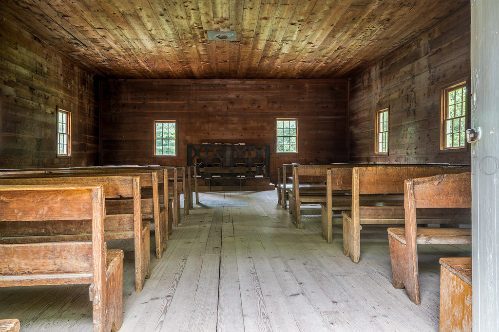 Interior Cades Cove Primitive Baptist Church
