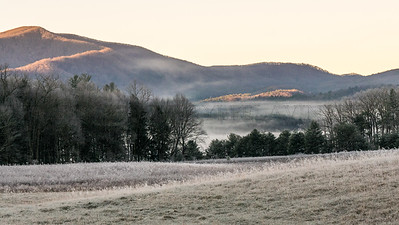 Hoar frost and mist in Cades Cove, December