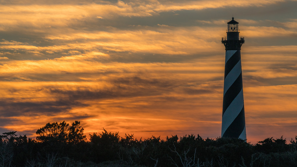 Lighthouse at Sunset, Outer Banks