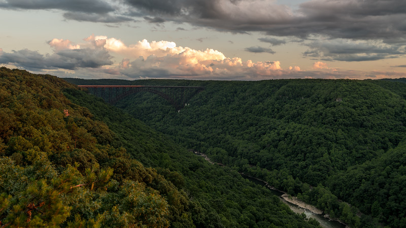 Sun on the New River Gorge Bridge