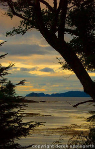 Sunset  from Taanu,  Haida Gwai, BC