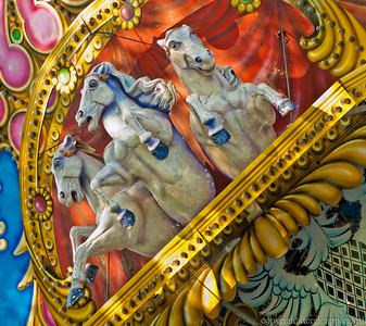 Carousel in Viviers, France
